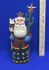 Rodney W. Leeseberg Cowboy Santa w/ Stick Horse Head Cactus Star Christmas
