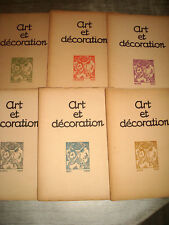 ART & DECORATION 1921 1er Sem. 6/6 ART DECO SIGNAC RIVIERE BRANDT MEHEUT