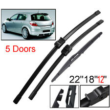 """22""""18""""12"""" Front Rear Windscreen Wiper Blades Set Fit For Holden Astra 2005-2012"""
