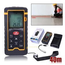 9Key 40M/131ft/1575in Laser Distance Measurer Meter Range Finder Diastimeter LCD