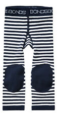 Baby Bonds Crawler Leggings Black White Stripes with Knee Patches - Cotton Rich