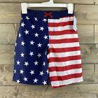 Cat & Jack Boys Swim Trunks USA American Flag Patriotic Size Medium 8 10