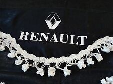 3 Pcs. Black Curtains With White Tassels And White Logo For RENAULT TRUCKS