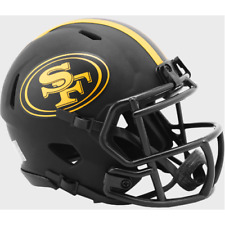SAN FRANCISCO 49ers - Black Eclipse Riddell Speed Mini Helmet (NEW IN BOX)
