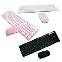 Universal Silent Ultra-thin 2.4G Wireless Keyboard and Mouse Set for Laptop PC