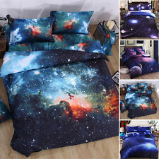 Modern 3D Bedding Galaxy Sky Bed Set Outer Space Single Queen Duvet Cover Comfy