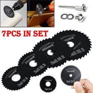 7x Cutting Disc Wheel Blades HSS Saw Disc For Dremel Drills Rotary Tool 22-50mm