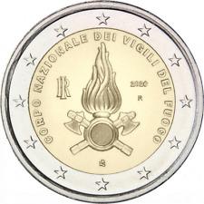 2020 ITALIA 2€ euro commemorativo  Vigili del fuoco fior di conio da rotolino