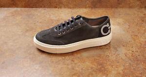 New! Salvatore Ferragamo 'Truman' Gancini Sneaker Grey Mens Size 8.5 M MSRP $595