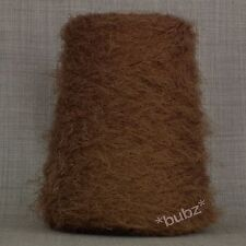 Super Soft 4 capas de plumas de pestañas hilados-Brown - 500 G Cono 10 Ball Fancy Knitting