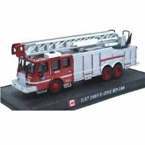 E-One HP-100 Canada 2003 1:87 Del Prado firefighters Diecast #74