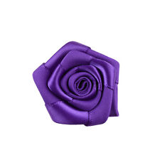 50/15 Big Satin Ribbon Rose Flower DIY Craft Wedding Party Bouquet Appliques K17