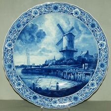 Pottery & China @ Perfect @ Porceleyne Fles Handpainted Delft Plate Worldjourney Submarine 1935