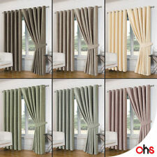 Chenille Solid Traditional Curtains & Pelmets