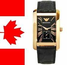 Emporio Armani AR0168 Men's Classic Black Dial Two-Piece Strap Designer Watch