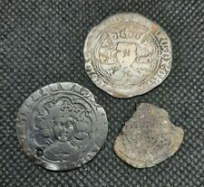 More details for hammered silver henry vi & edward iv groats (pierced) plus free half groat lot
