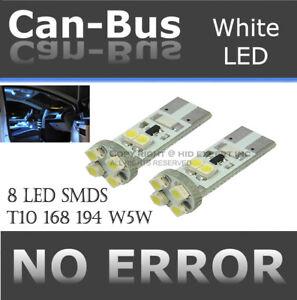 4 pcs Canbus No Error 8 LED Chips T10 White Install License Plate Lamp Bulb Q27