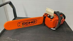 "Echo 510EVL Chainsaw 19"" Guide Bar Gas Powered 49CC Two Stroke Working"