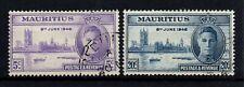 Mauritius 1946 Peace 8TH June 1946, gestempelter Satz.