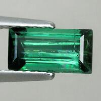 1.45 ct - TOP LUSTROUS BLUE GREEN - NATURAL TOURMALINE - OCTAGON - Loose gems
