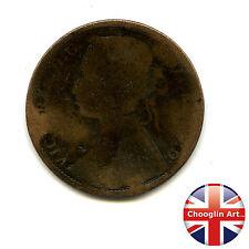 A British Bronze 1874 VICTORIA PENNY Coin                        (Ref:1874_51/2)