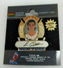Vintage NHL 1996 LUC ROBITAILLE New York Rangers PHOTO Lapel Hat Pin RARE & HTF