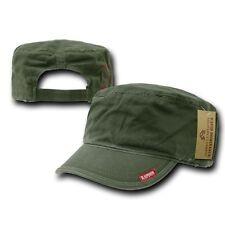 Olive Green Patrol Military Army Basic Cadet Flat Adjust BDU Cap Hat Caps Hats