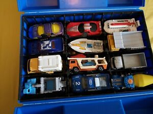 Matchbox Carry Case With 23 Cars Inc mbx, hot wheels, Lesney