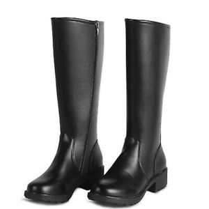Mens Military Boots Knee High Faux Leather Army Performance Riding Horse Fashion