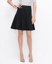 Ann Taylor - Size 6 Black Bonded Jersey Flounce Skirt $79.00 (D613)