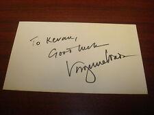 Virginia Wade International Tennis HOF Signed 3X5 Index Card Authentic Auto M7