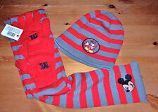 4 tlg Winter Set one size ( 110/116 - 122/128) Hello Kitty Spiderman Mickey Maus