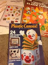 3 Plastic Canvas Pattern Booklets, Magnets and Fun Projects