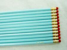 "24 Hexagon ""Pastel Blue"" Personalized Pencils"