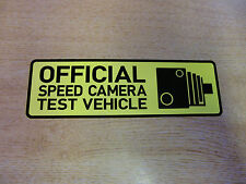 """Official Speed Camera Test Vehicle"" Bumper Sticker Window Decal 150mm [v1] YELL"