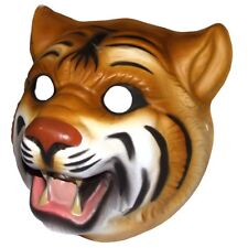 Tiger Plastic Face Mask - Fancy Dress Accessory