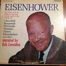 Eisenhower-bob considine-caedmon-2 lp-blue green label