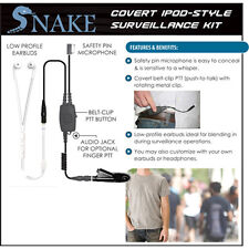 SNAKE Q-Release Ipod-Style Earpiece for Motorola HT MTX MTP EX PTX (See List)