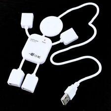 Cute 4 Port Hub High-Speed USB 2.0 Humanoid Splitter Cable Adapte