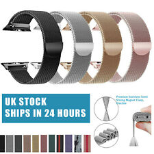 For Apple Watch Series 6 SE 5 4 3 2 Magnetic Milanese Loop Wristwatch Band Strap