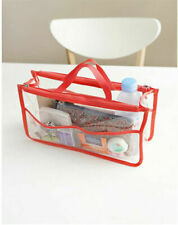 Clear Transparent Plastic PVC Travel Cosmetic Make Up Toiletry Zipper Bag Pouch