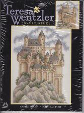Teresa Wentzler counted cross stitch kit Castle Ridge Chateau Fort 113973 NIP