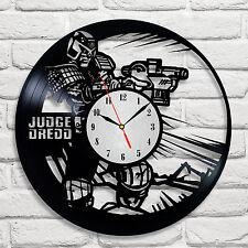 Judge Dredd design vinyl record clock home decor art hobby shop office hero 2