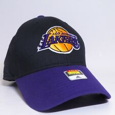 e8ca2d70d5419 ADIDAS LOS ANGELES LAKERS NBA ONE SIZE FITS ALL CAP HAT - BLACK PURPLE
