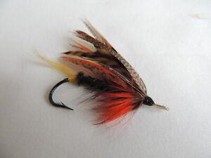 Vintage 2/0 Gut Eyed Salmon Fly.
