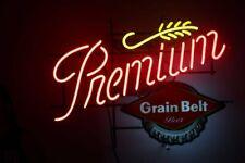 "New Grain Belt Premium Neon Light Sign 24""x20"" Lamp Poster Real Glass Beer Bar"