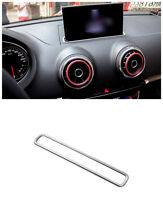 For Audi A3 8V 2012-2017 Stainless Interior Dashboard Navigation Frame Trim 1pcs