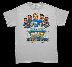 Los Angeles Chargers Vintage 1994 Caricature NFL Player T Shirt White Cotton Tee