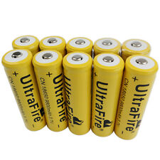 10 x 3.7V 18650 9800mAh Li-ion Rechargeable Battery For UltraFire Flashlight Toy