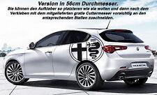 Alfa Romeo Logo 2er Set Aufkleber Sticker Folie Tattoo Decor Patch Decal Ø56cm